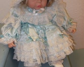 Vintage Porcelain Collectible Doll