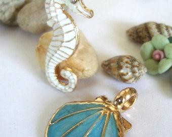 Seahorse Nautical Pendant,Sea,Ocean,Beach