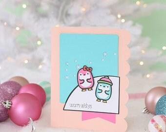 Hello Kitty Penguin Card