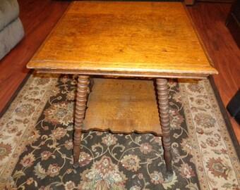 Antique Barley Twist Leg Oak Table