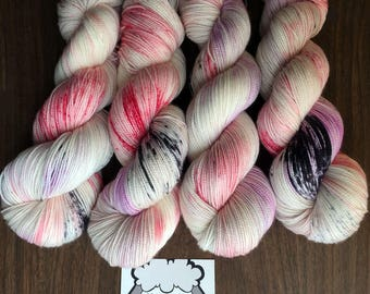 """Poppet MCN Hand-Dyed Speckled Sock Yarn -400yds - """"Experiment 095"""""""