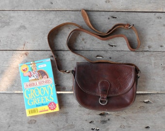 Vintage Leather Bag BREE Mahogany Brown Leather Purse Leather Crossbody Bag / Authentic / Small / Good Condition