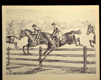 Steeplechasing Horse Print Wall Art Wall Decor Horses