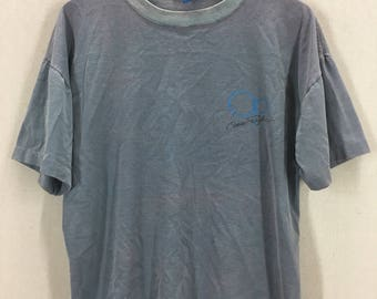 Vintage 80's Ocean Pacific OP Distressed Surf Surfing 50/50 Hypercolor T-Shirt Fits like a Large