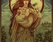 MOTHER ~ Fine art print, large • Mother's day gift, motherhood, mom, breasfeeding, warrior