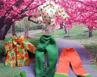 Barbie Clone Ensemble Greens & Oranges
