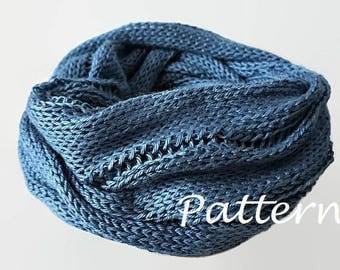 KNITTING PATTERN Knit Infinity Scarf Pattern  Eternity Scarf Knitting Pattern Knitting Scarves Pattern Cowl Scarf Pattern Knitting Pattern
