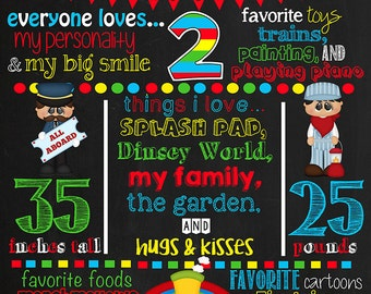 Thomas the Train Birthday Chalkboard Poster DIGITAL FILE