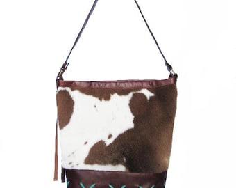 Calf skin leather bag