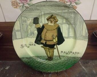 Doulton seriesware plate: Sir John Falstaff, signed Noke.