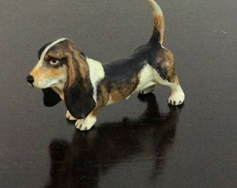 Vintage Vienna Bronze Figure of Bassett Hound Dog