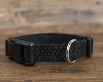 Black Polka Dot Dog Collar, Black Dog Collar, Male Dog Collar, Dog Collar, Pet Accessories