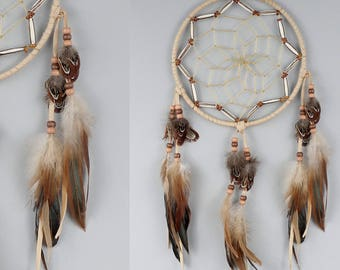 Large Dream Catcher, Native America Inspired Dreamcatcher, Wall Hanging Dreamcatcher, Rustic Home Decor, Brown Dreamcatcher