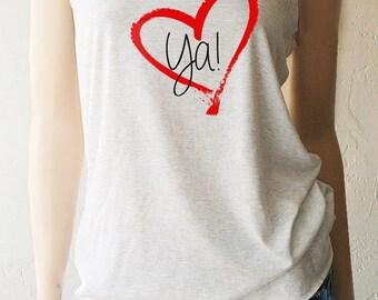 Women's Valentine's Day Shirts. Love Tanks. Love Ya Tank Top. Women's Valentine's. Heart Tanks. Heart TShirt. Heart Shirt. Love Shirt
