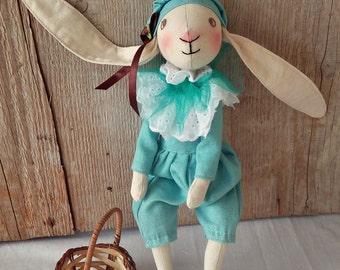 Handmade bunny toy, Easter bunny, Stuffed bunny, Bunny toy , Organic stuffed bunny , Organic stuffed animals, Waldorf bunny toy, Plush bunny