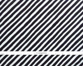 Black & White Stripe Fabric, In The Beginning Fabric, It's Christmas 9JHF2 Jennifer Heynen, Black Bias Stripe Quilt Fabric, Cotton