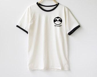 Sloth Running Team Shirt TShirt T-Shirt T Shirt Tee