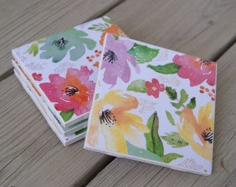 Spring Floral Coasters