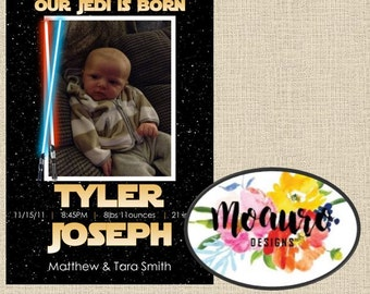 Star Wars Birth Announcement