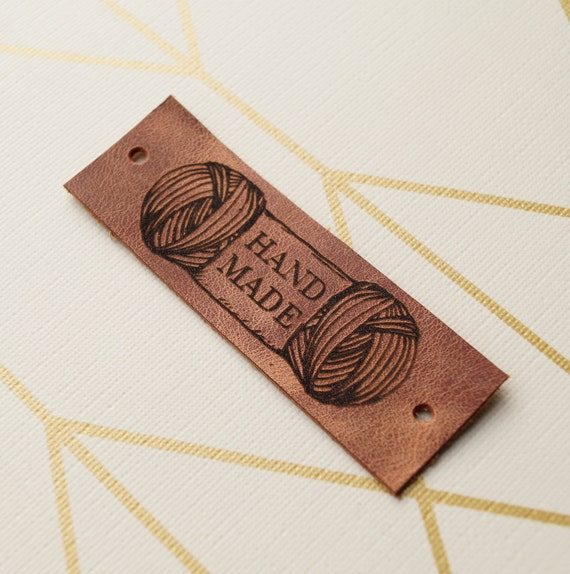 Knitting Labels Custom : Knitting labels custom clothing leather personalized
