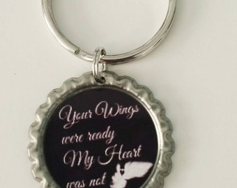 Angel keychain  Angel wings keychain keepsake gift for family gift under 10