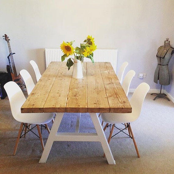 Reclaimed industrial chic a frame 6 8 seater dining table for 6 seater dining table for small space