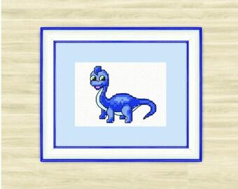 Cute Dino Counted Cross Stitch Kit / PDF Files - Dino 5