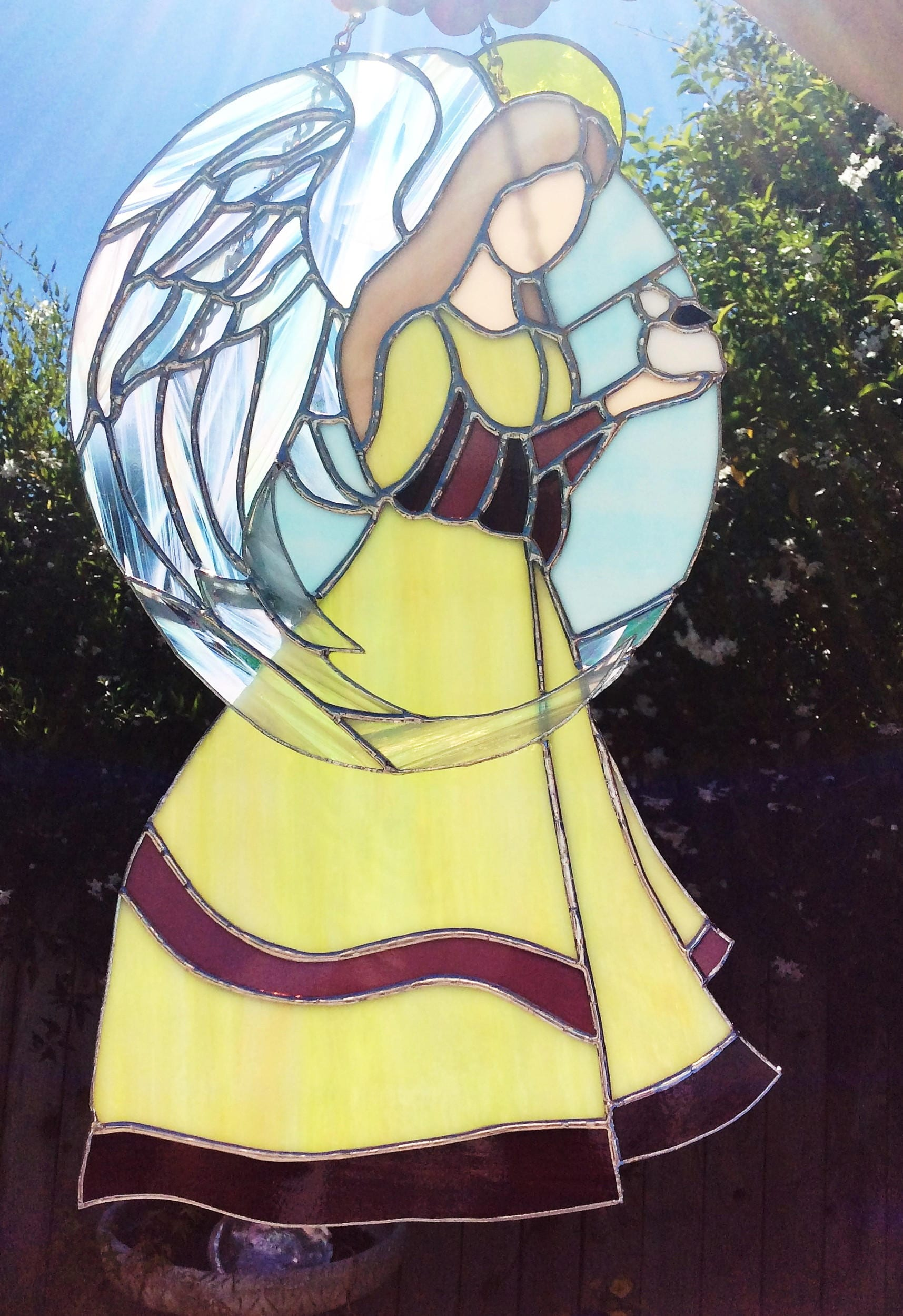 Stained Glass Angels, Tiffany style, Angel Suncatcher, Angel Decor ...