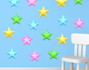 Wall decals stars A516 - Stickers étoiles A516