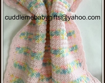 Baby shower Baby shower Gift Crochet Baby Blanket Handmade Crochet baby shower baby blanket Baby Girl Keepsake