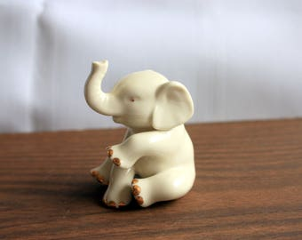 Lennox Porcelain Elephant Trimmed with Gold