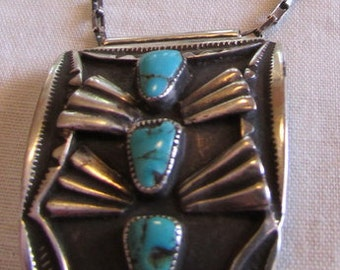 Alberto Contreras Turquoise and Sterling Silver Necklace