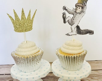 Wild Things cupcake toppers/ Where the Wild things are/ set of 12