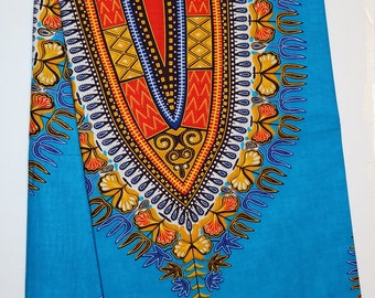 Dashiki/African Fabric per 6 yards/Craft Supplies/African Print/Dashiki fabric/African Clothing/Fabric/African fabric/ Cotton/Dashiki Print