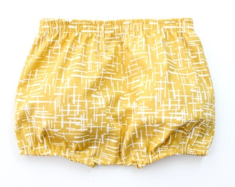 Mustard crossroad baby shorts for a baby boy, nappy cover, baby shorts, baby bloomers in mustard, 100% cotton