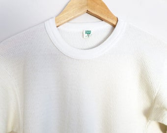 Vintage Waffle Texture Thermal Shirt Size S