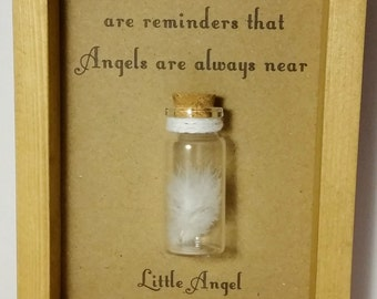 Child Bereavement, Baby loss, Child loss, Angel, Feather, Keepsake. Can be personalised with your own message.