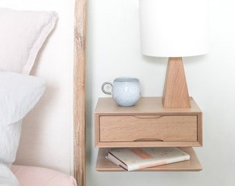Charmant Oak Floating Bedside Table