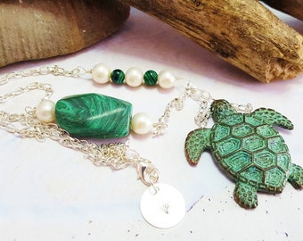 Sea Turtle Necklace ~ Sacred Totem Turtle Necklace ~ Statement Jewelry ~ Gift For Girlfriend ~ Summer Jewelry Trends ~ Jewelry For A Cause