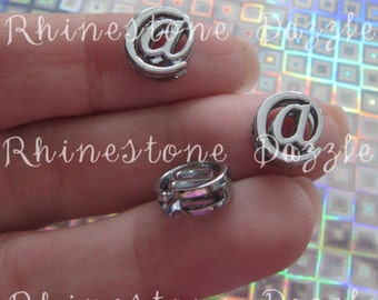 At symbol Slide Charms, Silver @ Slide Charms, DIY Jewelry, Personalized Bracelet