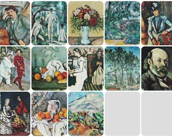 Paul Cezanne - Set of 13 Vintage Soviet Art Prints - 1972. Aurora Publ. Retro Wall Decor Home Decor Design Post-Impressionism Print