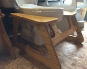SALE Poop Stoop DEMO Slimline PROTOTYPE Tung Oil Finished Squat Stool--Ready to Ship