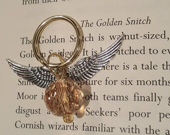 Golden Snitch Key Chain - Crystal