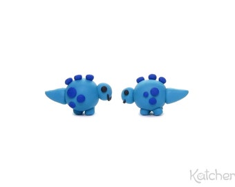 Turquoise Stegosaurus Earrings - Cool Gift for a Dinosaur Party