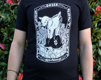 Green Anti-Fascist Goat Shirt
