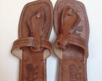 Men's Hand Made Leather Sandals - 3