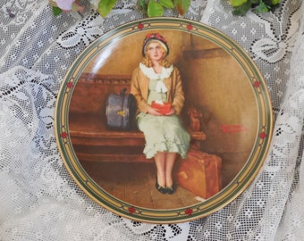 """Norman Rockwell Plate """"A Young Girl's Dream"""" Limited Edition, 1st Plate in the American Dream Series"""