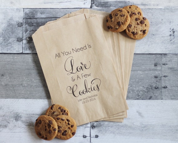 Cookie Bags, All You Need is Love and Cookies, Cookie Wedding Favors ...