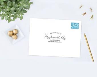 envelope template printable