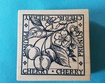 PSX G-1286 - Cherry Blossom Fruit - Rubber Stamp